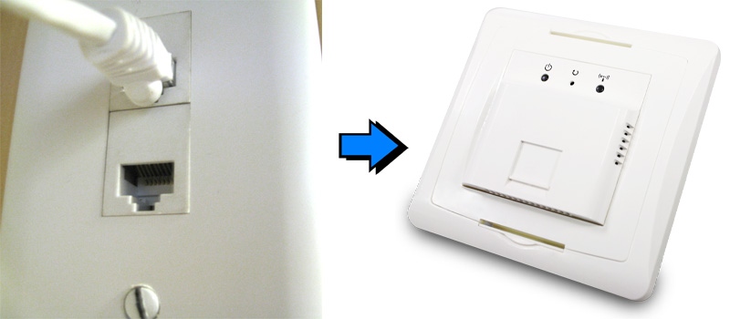 Get rid of messy Wi-Fi router with this simple wall mount AP
